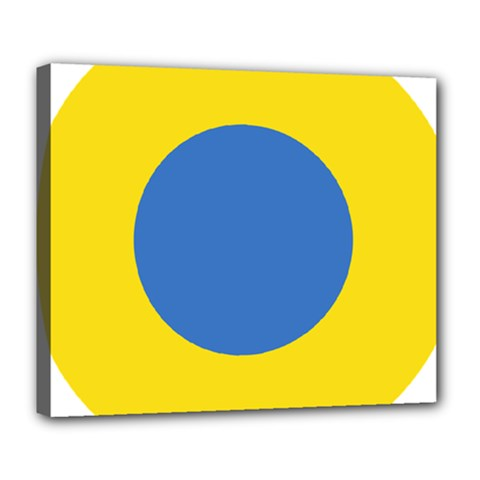 Ukrainian Air Force Roundel Deluxe Canvas 24  x 20