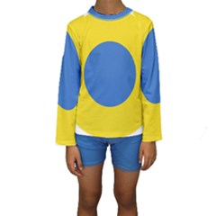 Ukrainian Air Force Roundel Kids  Long Sleeve Swimwear