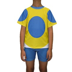 Ukrainian Air Force Roundel Kids  Short Sleeve Swimwear