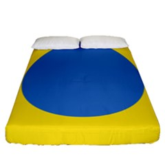 Ukrainian Air Force Roundel Fitted Sheet (Queen Size)