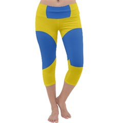 Ukrainian Air Force Roundel Capri Yoga Leggings