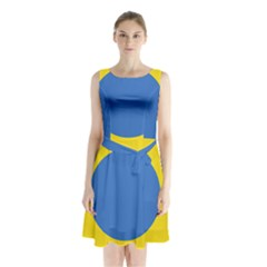 Ukrainian Air Force Roundel Sleeveless Chiffon Waist Tie Dress