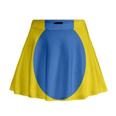 Ukrainian Air Force Roundel Mini Flare Skirt
