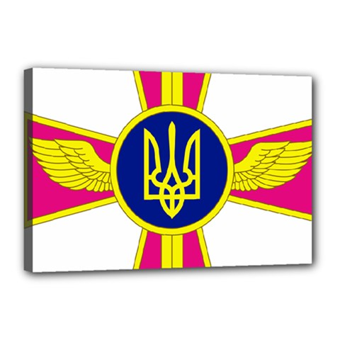 Emblem of The Ukrainian Air Force Canvas 18  x 12
