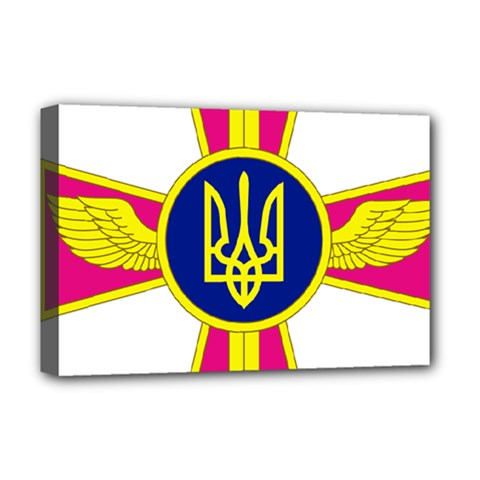Emblem of The Ukrainian Air Force Deluxe Canvas 18  x 12
