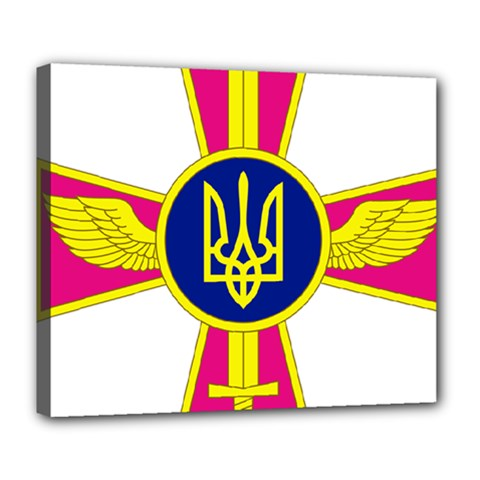 Emblem of The Ukrainian Air Force Deluxe Canvas 24  x 20
