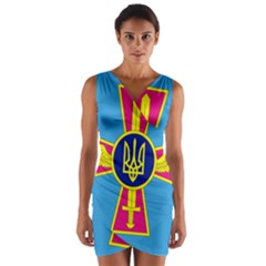 Ensign of The Ukrainian Air Force Wrap Front Bodycon Dress