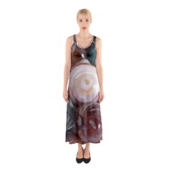Rain Flower Stones Is A Special Type Of Stone Sleeveless Maxi Dress