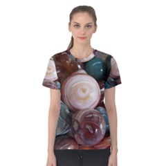 Rain Flower Stones Is A Special Type Of Stone Women s Cotton Tee