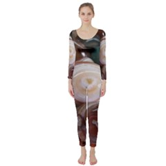 Rain Flower Stones Is A Special Type Of Stone Long Sleeve Catsuit