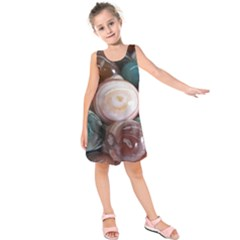 Rain Flower Stones Is A Special Type Of Stone Kids  Sleeveless Dress