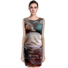 Rain Flower Stones Is A Special Type Of Stone Sleeveless Velvet Midi Dress