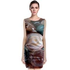 Rain Flower Stones Is A Special Type Of Stone Sleeveless Velvet Midi Dress