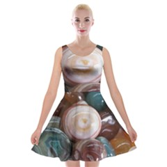 Rain Flower Stones Is A Special Type Of Stone Velvet Skater Dress