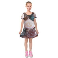 Rain Flower Stones Is A Special Type Of Stone Kids  Short Sleeve Velvet Dress