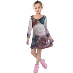 Rain Flower Stones Is A Special Type Of Stone Kids  Long Sleeve Velvet Dress