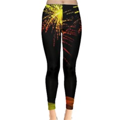Rainbow Fireworks Celebration Colorful Abstract Leggings
