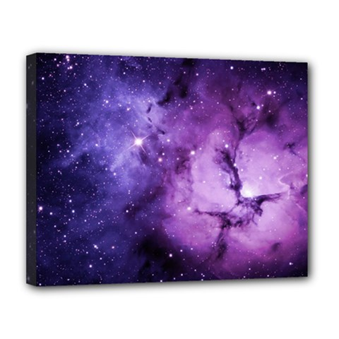 Purple Space Canvas 14  X 11