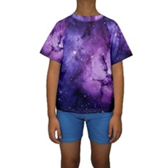 Purple Space Kids  Short Sleeve Swimwear