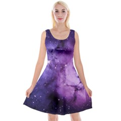 Purple Space Reversible Velvet Sleeveless Dress
