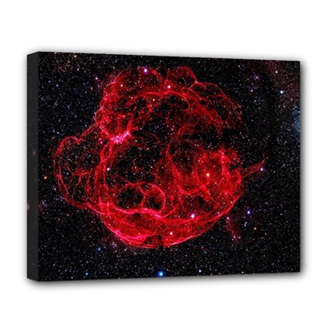Red Nebulae Stella Deluxe Canvas 20  X 16