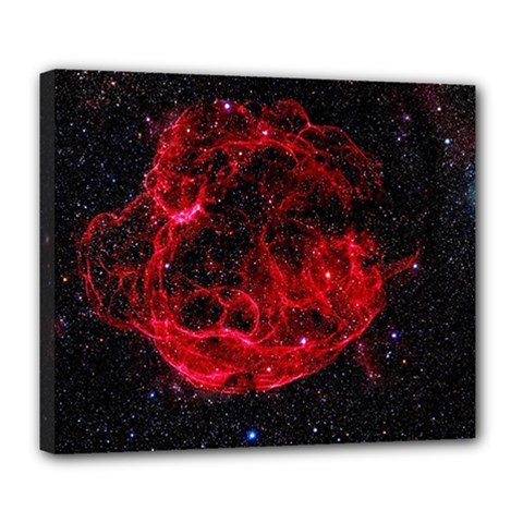 Red Nebulae Stella Deluxe Canvas 24  X 20