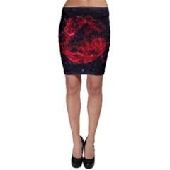 Red Nebulae Stella Bodycon Skirt