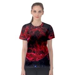 Red Nebulae Stella Women s Sport Mesh Tee