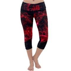 Red Nebulae Stella Capri Yoga Leggings
