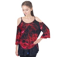 Red Nebulae Stella Flutter Tees