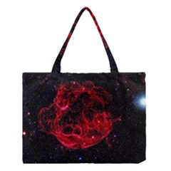 Red Nebulae Stella Medium Tote Bag
