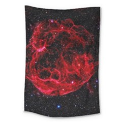 Red Nebulae Stella Large Tapestry