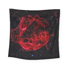 Red Nebulae Stella Square Tapestry (small)