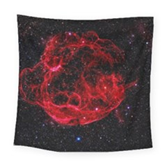 Red Nebulae Stella Square Tapestry (Large)