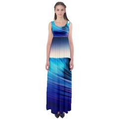 Rolling Waves Empire Waist Maxi Dress