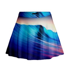 Rolling Waves Mini Flare Skirt