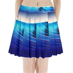 Rolling Waves Pleated Mini Skirt