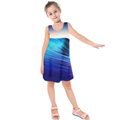 Rolling Waves Kids  Sleeveless Dress