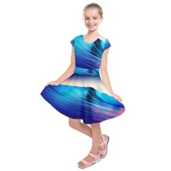 Rolling Waves Kids  Short Sleeve Dress