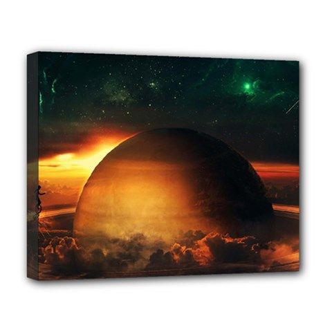 Saturn Rings Fantasy Art Digital Deluxe Canvas 20  X 16
