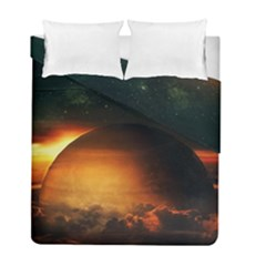 Saturn Rings Fantasy Art Digital Duvet Cover Double Side (full/ Double Size)