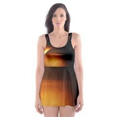 Saturn Rings Fantasy Art Digital Skater Dress Swimsuit