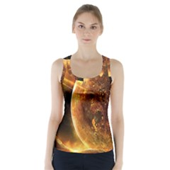 Sci Fi Planet Racer Back Sports Top