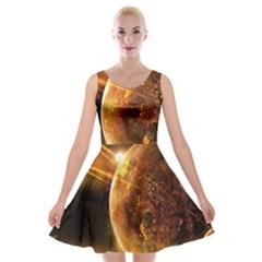 Sci Fi Planet Velvet Skater Dress