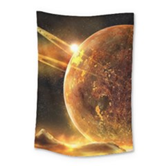 Sci Fi Planet Small Tapestry