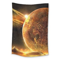 Sci Fi Planet Large Tapestry