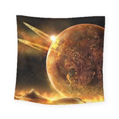 Sci Fi Planet Square Tapestry (small)