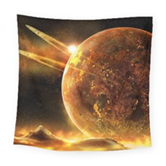 Sci Fi Planet Square Tapestry (Large)