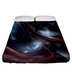 Shells Around Tubes Abstract Fitted Sheet (california King Size)