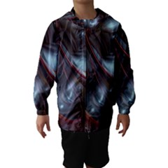 Shells Around Tubes Abstract Hooded Wind Breaker (kids)